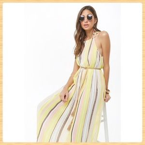 New Forever21 Pleated Multicolor Maxi Dress